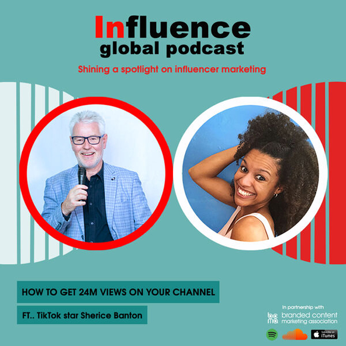 influence- global podcast with host Gordon Glenister and Sherice banton