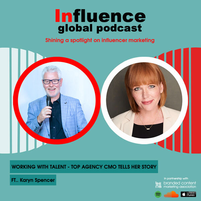 Influence- the global podcast shining a spotlight on influencer marketing Gordon Glenister the host guest